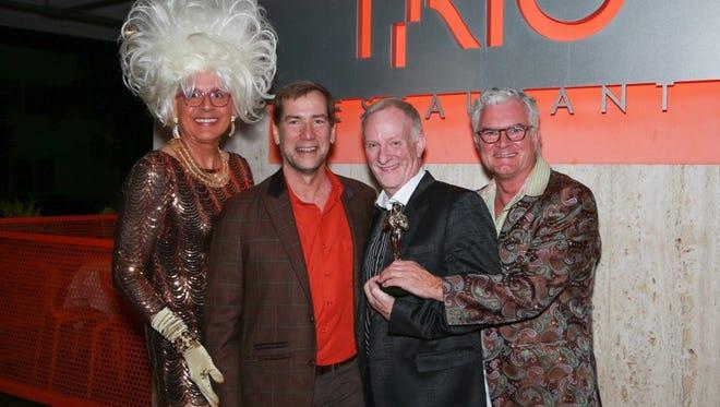 Bella da Ball, Scott Histed, Mark Anton and TRIO Owner/Executive Chef Mark Van Laanen.