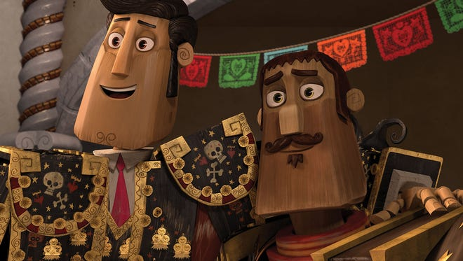 """Manolo (Diego Luna) and Joaquin (Channing Tatum) in """"The Book of Life."""""""