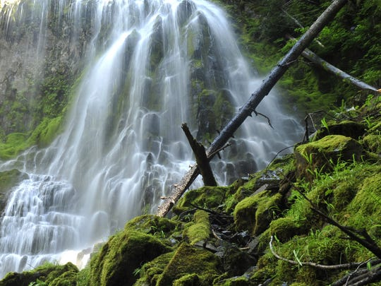Proxy Falls plunges more than 200 feet. A short, scenic