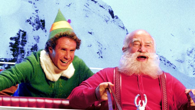 """Will Ferrell (left) and Ed Asner in a scene from the 2003's """"Elf."""""""