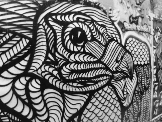 """Graffiti Falcon"" is a photograph by Gracie Martinez,"