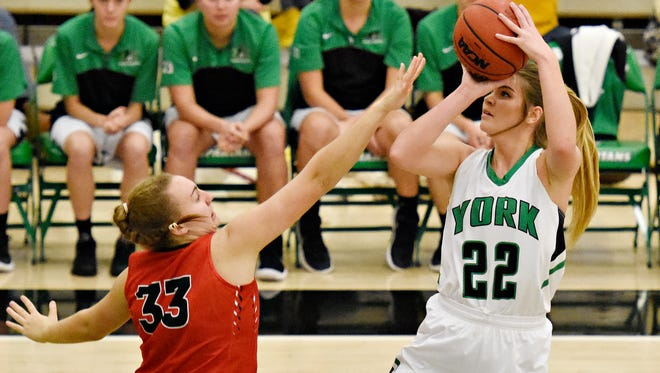 Dallastown High School graduate Katie McGowan, 22, enjoyed a big performance on Tuesday night in York College's win over Frostburg State. YORK DISPATCH FILE PHOTO