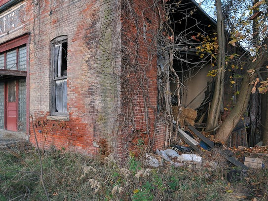 A vacant property on the 200 block of East Perry Street.