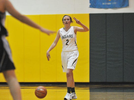 Indian River's Kealey Allison calls out a play during