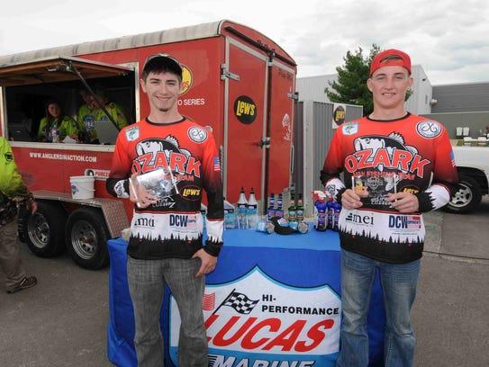 Ozark High School's Brennan Banks (left) and Sawyer