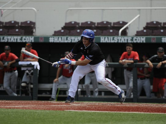 Louisiana Tech's Jordan Washam swings at a pitch during