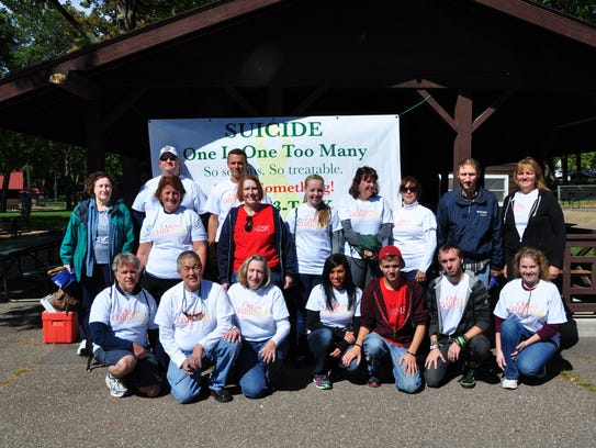 A group of participants in the 2014 Out of the Darkness