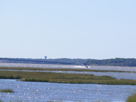 View of Assawoman Bay from Ocean City.