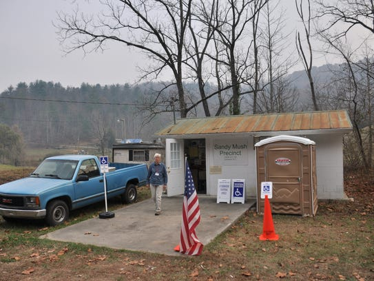 The Sandy Mush precinct in Madison County is a small