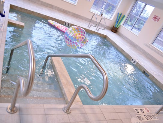 The therapy pool at Heritage Lake Country provides