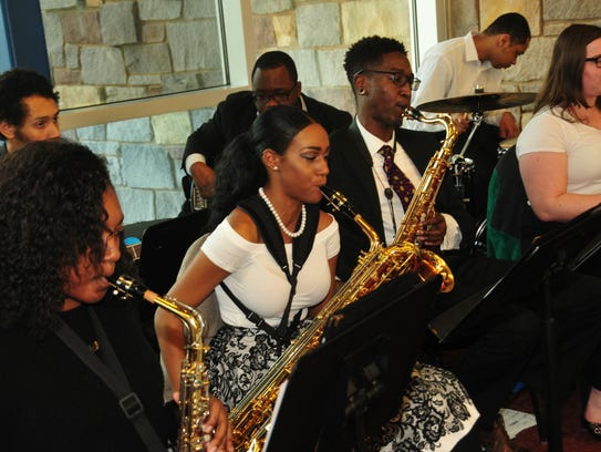 The DSU Jazz Band performs on campus in this file photo.