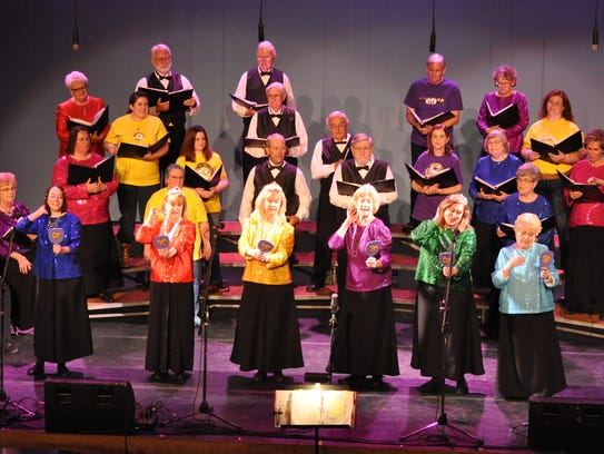 Celebration Singers perform in a past concert. The