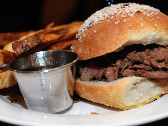 Beef on Weck, a New York tradition made at McGlynn's