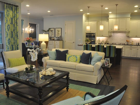 This model home at Oaks of Estero is one of the few