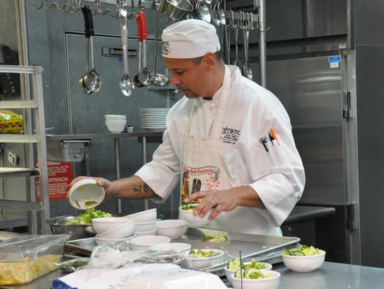 Charles Williams cleans up in the TSTC Culinary Institute