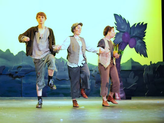 "Cast members explore Neverland in ""Peter and the Star"
