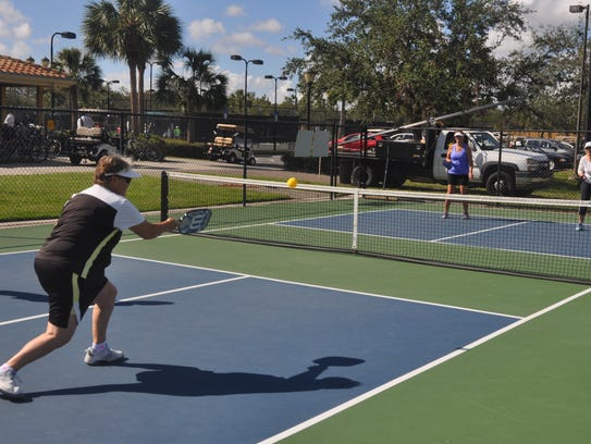 There are more than 300 pickleball players at Pelican