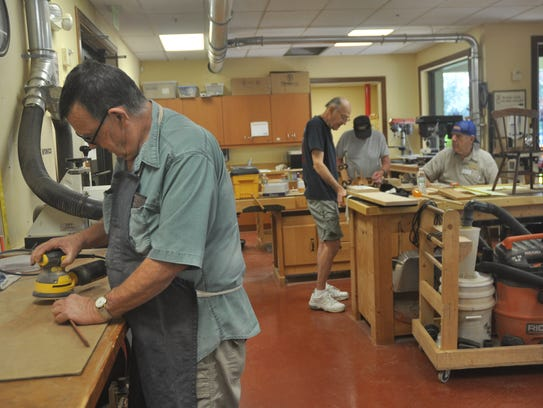 There is a woodworking shop at Pelican Preserve.