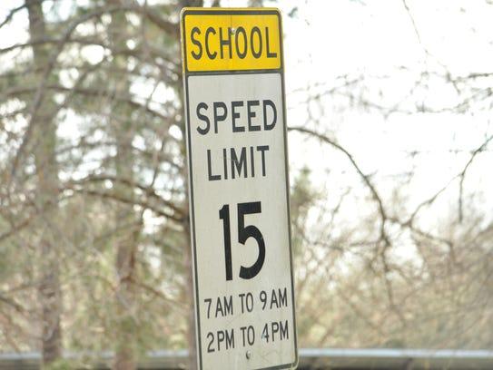 A school zone in Rapides Parish.