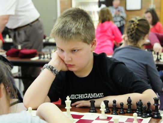 Mason Thiede, 9, a third-grader at Michigamme Elementary