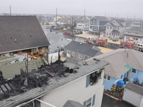 A fire damaged two homes on Sea Gull Lane April 16.