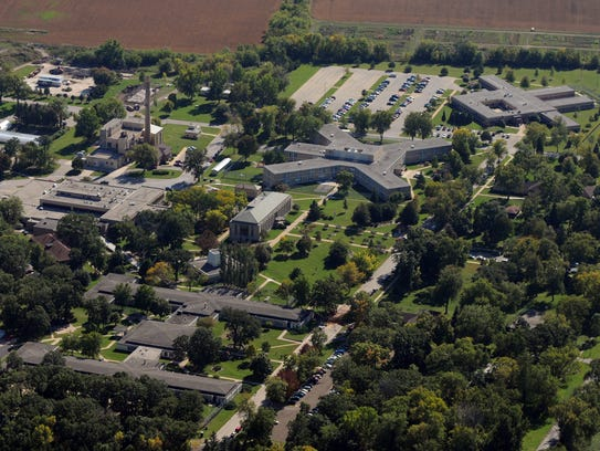 The Winnebago Mental Health Institute can be seen in