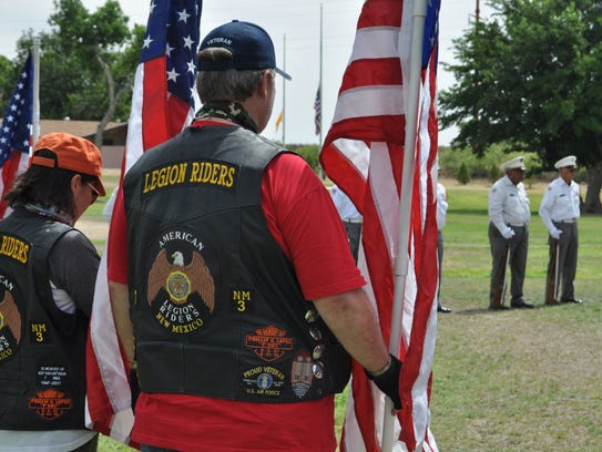 Members of the American Legion Riders New Mexico hold