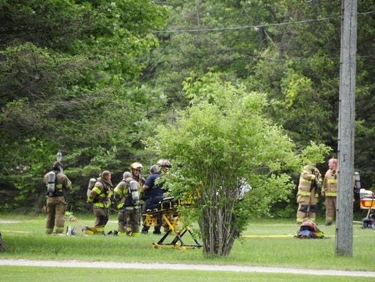 Port Huron Township firefighters responded to a fire