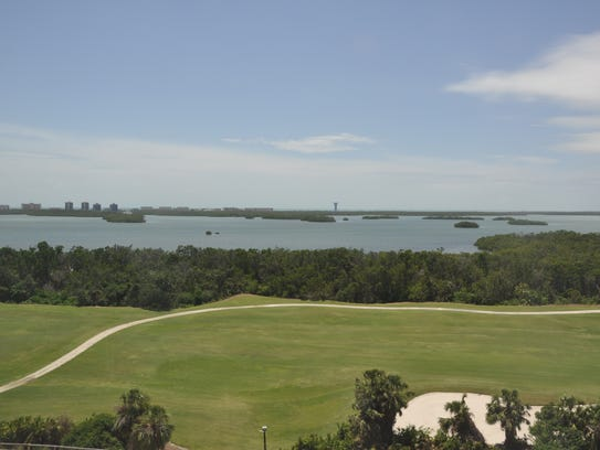 The eighth floor model has views of the preserve and