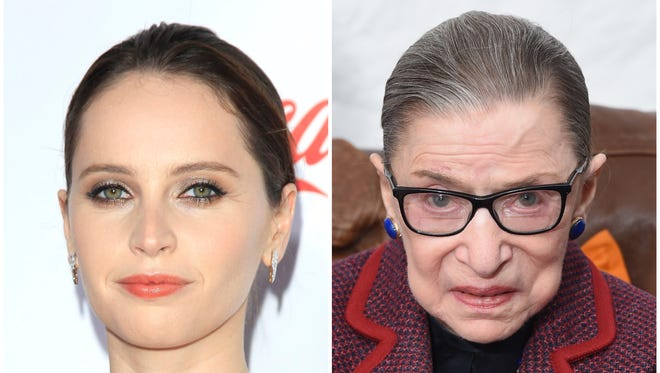 Felicity Jones plays a young Ruth Bader Ginsburg in 'On the Basis of Sex.'