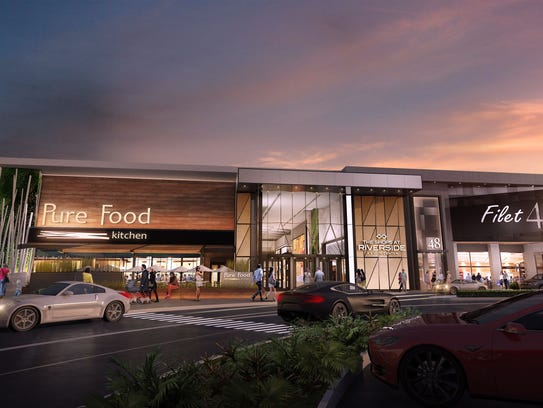 Artist's rendering of the new entrance to The Shops