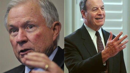 U.S. Senators Jeff Sessions (left) and Richard Shelby (right)