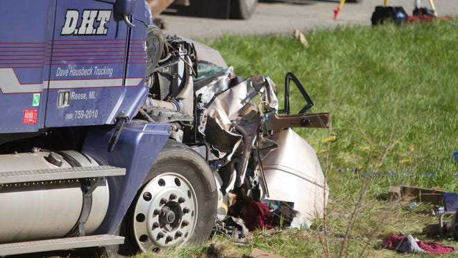 A fatal accident involving numerous cars occured on southbound U.S. 23 south of Lee Road Sunday afternoon.