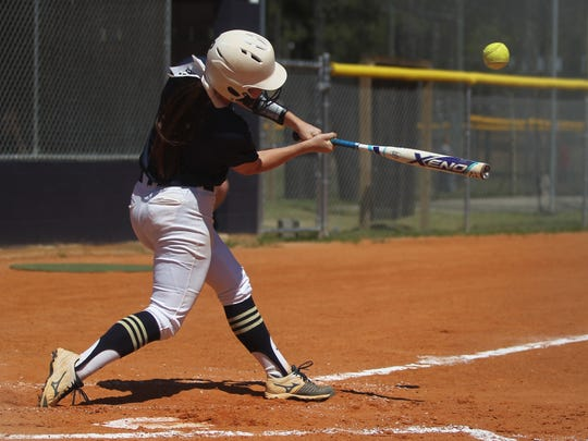 Aucilla Christian's softball team beat Peniel Baptist 10-0 on May 8, 2017 in a Region 1-2A semifinal.