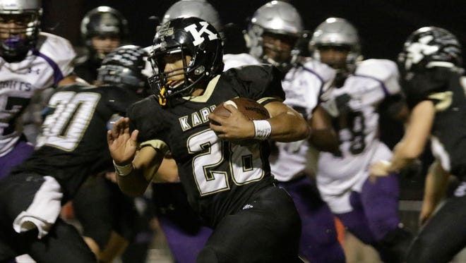 Kaplan running back Mac Thibeaux exploded for 245 yards and three touchdowns in the Pirates' 29-12 win over Jennings.