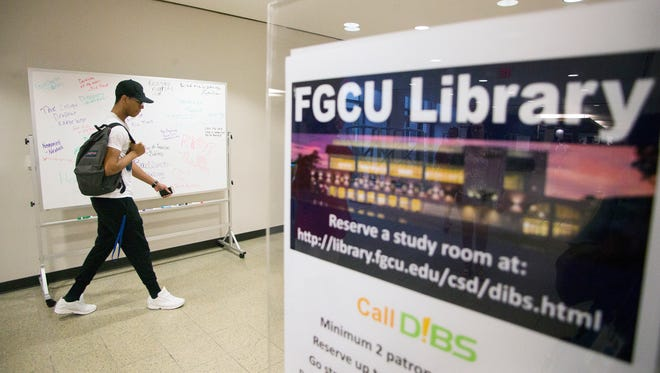 """It is stupid,"" FGCU student Jay Reese said Wednesday of a second racist message, ""Noose Tying 101,"" that was written on a library whiteboard, pictured, at FGCU in Fort Myers. The incident occurred on Tuesday between 2 and 3 p.m., according to a crime alert sent by the university police department Wednesday."