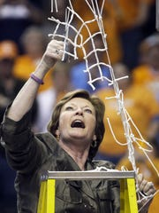 Pat Summit won 1,098 games and eight national championships as coach at Tennessee.