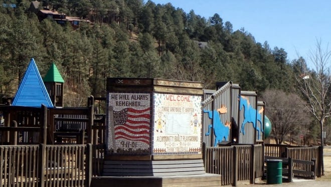 Hornets cause a problem at Kid Konnection playground in Ruidoso.