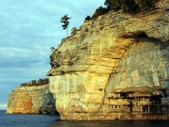 Beautiful colors are seemingly painted on the sandstone