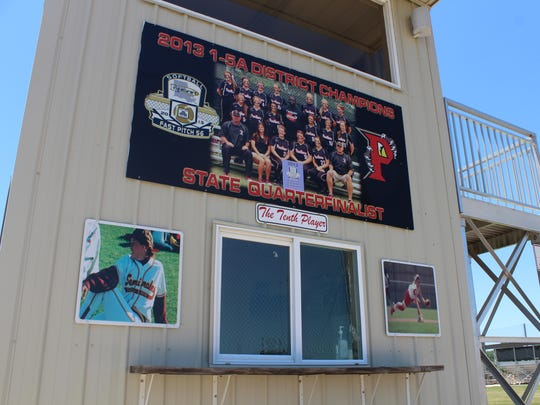 The concession stand at the Parkway High School softball