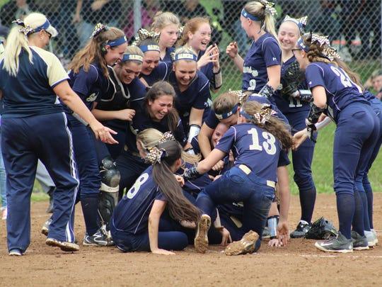 Susquehanna Valley's girls celebrate Section 4 softball