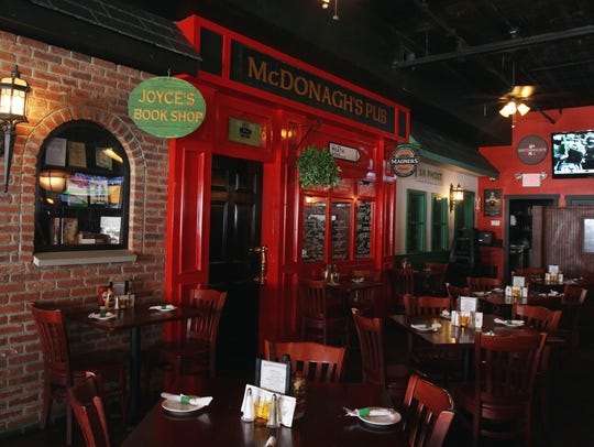 The dining area of McDonagh's Pub in Keyport.