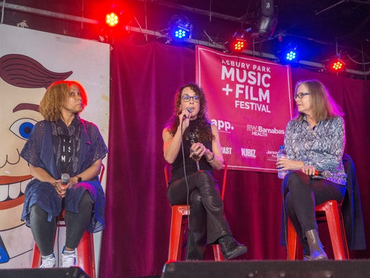 Women from various areas of the entertainment business discuss their battles for equality during a discussion panel at the Wonderbar in Asbury Park as part of the Asbury Park Music and Film Festival on Saturday, April 28, 2018