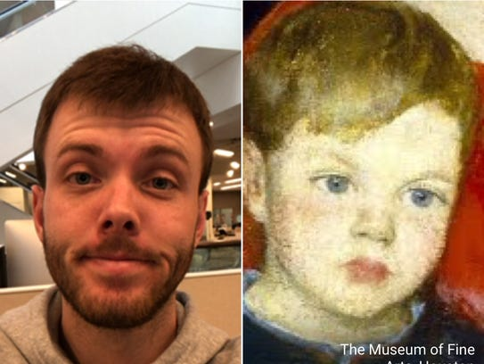 I tried the Google Arts & Culture face match on myself.