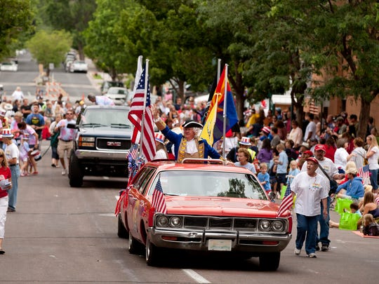 The Flagstaff 4th of July Parade route on July 4, 2012.