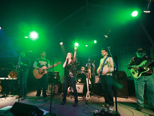 The Megan Rae Band performs during Backroads Saloon's