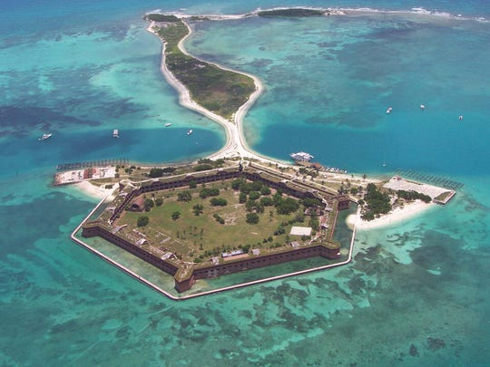 Fort Jefferson, part of Dry Tortugas National Park,