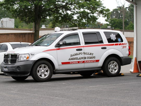 Ramapo Valley Ambulance Corps vehicle parked at the