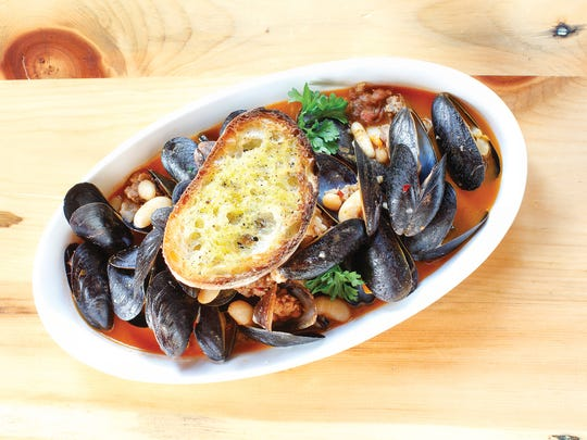 The broth was the star of the mussels show, actually overpowering the seafood.