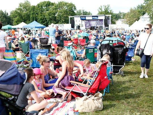 Music fans enjoy the Pleasantville Music Festival on